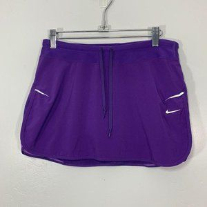 Nike Dri-Fit Purple Silver Accent Logo Spell Skirt